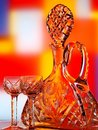 Wine Bottle & Glass Abstract Royalty Free Stock Images - 9469009
