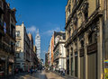 Pedestrian Street In Mexico City Downtown With Latinoamericana Tower On Background - Mexico City, Mexico Stock Image - 94626181