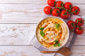 Hummus And Chickpea. Jewish Cuisine. Top View Stock Photography - 94627232