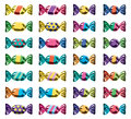 Collection Of Colorful Wrapped Candies. Vector  Royalty Free Stock Photos - 94653388