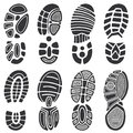 Running Sport Shoes Vector Footprint Set Royalty Free Stock Photo - 94658105