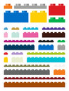 Toy Building Pieces In Vector Royalty Free Stock Photos - 94669048