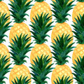 Watercolor Pineapples Pattern. Repeating Texture With Realistic Pineapple On White Background. Fashion Summer Wallpaper Design Stock Photo - 94694980