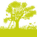 Tree House In An Old Tree Royalty Free Stock Images - 94702059