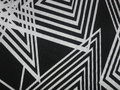 Black Fabric Texture With Angular White Lines Royalty Free Stock Image - 94733086