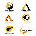Yellow And Black Backhoe Service Logo Vector Set Design Stock Photography - 94748042