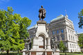 Statue Of Thomas Hendricks And Capitol Building, Indianapolis, I Stock Photos - 94770353