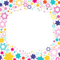 Vector Square Frame With Colored Stars David On The White Background, Sparkles Colored Symbols - Star Glitter, Stellar Flare. Stock Image - 94796231