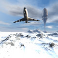 Flying Airliner Royalty Free Stock Image - 9487266