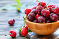 Red Sweet Cherries In Water Drops Closeup. Royalty Free Stock Photo - 94800035