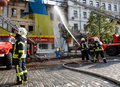 Fire In A Three-story House In Kiev Royalty Free Stock Photography - 94807457