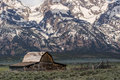 Grand Tetons Moulton Barn Mountain Landscape Old West Ghost Town Royalty Free Stock Photography - 94877507
