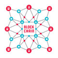 Blockchain Network Computer Technology - Creative Vector Concept Illustration. Abstract Banner Layout Graphic Design. Royalty Free Stock Photo - 94894495