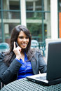 Indian Businesswoman With Laptop Royalty Free Stock Photography - 9493907