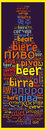 Word Beer In Different Languages Stock Photography - 94927092