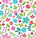 Floral Seamless Pattern. Cute Retro Flowers Wreath Perfect For Wedding Invitations And Birthday Cards Stock Photo - 94986590