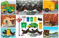 Scenes With Dirty Trash On The Road Stock Photography - 94994632