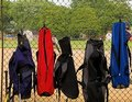 Bat Bags On Fence Stock Images - 953334