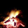 Campfire Burning At Nighttime Stock Image - 954241