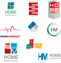 Set Of Prototype Logos Royalty Free Stock Photography - 9500317
