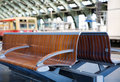 Bench Waiting At The Train Station Royalty Free Stock Photography - 9504217