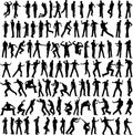 100 Man Vector Different Pose Royalty Free Stock Photo - 9507425