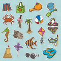 Beach Stickers Stock Photography - 9508782