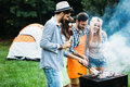 Friends Spending Time In Nature And Having Barbecue Stock Images - 95079854