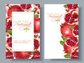 Pomegranate Vertical Round Banners Stock Photo - 95102150