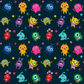 Cute Seamless Pattern With Alien Monsters Stock Photo - 95111650