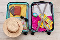 Tourist Travel Bag Full Of Clothing. Stock Image - 95112361