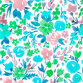 Watercolor Vector Abstract Floral Pattern Royalty Free Stock Image - 95126226