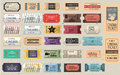 30 Retro Tickets Set Stock Images - 95126704