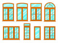 Vector Collection Of Various Windows Types. Stock Images - 95130104