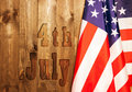 4th Of July, The US Independence Day, Place To Advertise, Wood Background, American Flag Stock Photo - 95142810