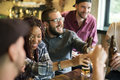 Diverse People Hang Out Pub Friendship Stock Photo - 95182850