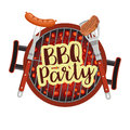 Bbq Barbecue Party Poster Royalty Free Stock Photo - 95190615