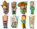 Cartoon Cool Funny Different Characters Vector Set Stock Photo - 95195360