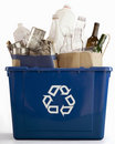 Blue Recycle Bin Royalty Free Stock Photo - 9528735