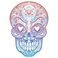 Colorful Mexican Decorative Skull Tattoo Royalty Free Stock Photos - 95205578