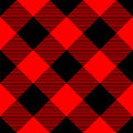 Lumberjack Plaid Pattern In Red And Black. Seamless Vector Pattern. Simple Vintage Textile Design Royalty Free Stock Image - 95206586