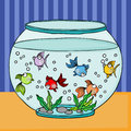 Globe Aquarium With Colorful Fish Stock Photos - 95208043