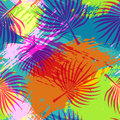Tropical Summer Pattern Abstract Palm Leaf Art Royalty Free Stock Image - 95211586