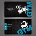 Business Card Gym Vector Royalty Free Stock Images - 95242559