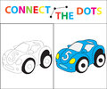 Children`s Educational Game For Motor Skills. Connect The Dots Picture. For Children Of Preschool Age. Circle On The Stock Photo - 95253620