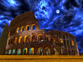 Colosseum By Night Rome Italy Royalty Free Stock Photo - 95281935