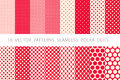 16 VECTOR PATTERNS SEAMLESS POLKA DOTS Set Red Background Royalty Free Stock Photos - 95306378
