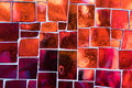 Mosaic Of Red Glass Tiles With Air Bubbles Inside. Royalty Free Stock Photography - 95364077