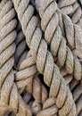 Thick Ropes Of A Ship Taues Stock Photos - 9541123