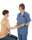 Nurse Measuring Patient S Pulse Stock Images - 9542784